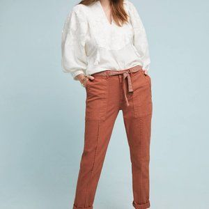 Anthropologie 33 Wanderer Utility Pant Rust Red